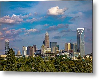 Charlotte North Carolina City Skyline Metal Print by Alex Grichenko