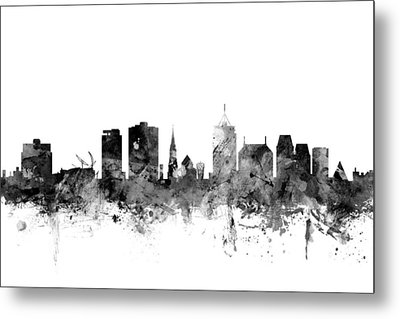 Christchurch New Zealand Skyline Metal Print by Michael Tompsett