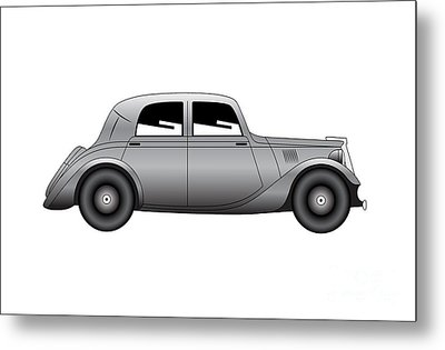 Metal Print featuring the digital art Coupe - Vintage Model Of Car by Michal Boubin