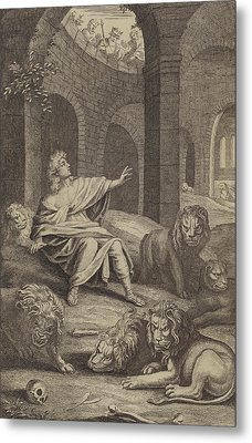 Daniel In The Lions' Den Metal Print by English School