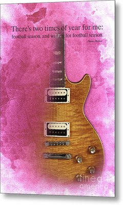 Darius Rucker Inspirational Quote, Electric Guitar Poster For Music Lovers And Musicians Metal Print by Pablo Franchi
