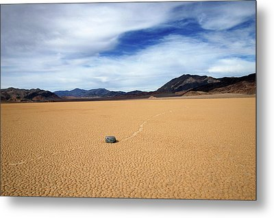 Metal Print featuring the photograph Death Valley Racetrack by Breck Bartholomew