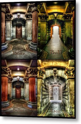 4 Doors - Philadelphia City Hall Metal Print