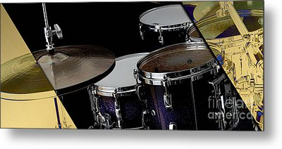 Drums Collection Metal Print by Marvin Blaine