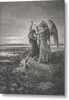Engraving From The The Dore Bible Metal Print