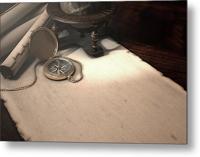 Exploration Table Metal Print