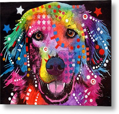 Golden Retriever Metal Print by Dean Russo
