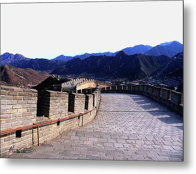 Metal Print featuring the photograph Great Wall by Marti Green