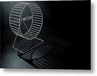 Hamster Wheel Empty Metal Print by Allan Swart