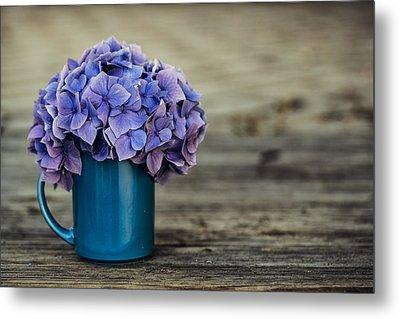 Hortensia Flowers Metal Print by Nailia Schwarz