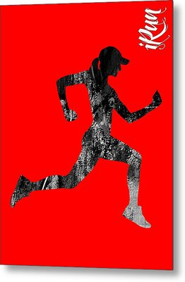 iRun Fitness Collection Metal Print
