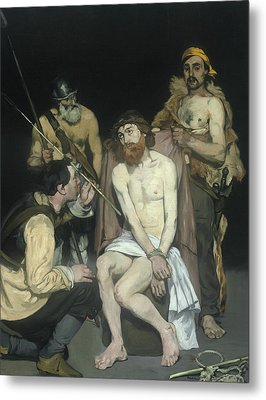 Jesus Mocked By The Soldiers Metal Print by Edouard Manet
