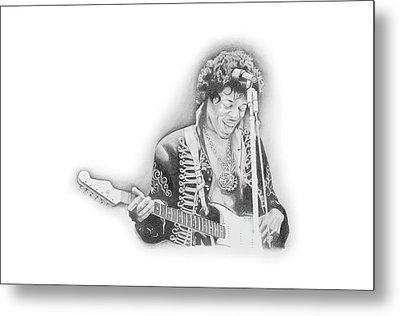 Jimi Hendrix  Metal Print by Don Medina