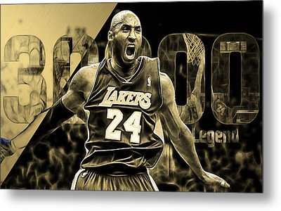 Kobe Bryant Collection Metal Print by Marvin Blaine