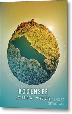 Lake Constance 3d Little Planet 360-degree Sphere Panorama Metal Print by Frank Ramspott