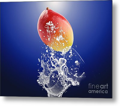 Mango Splash Metal Print by Marvin Blaine