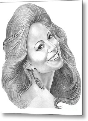 Mariah Carey  Metal Print by Murphy Elliott
