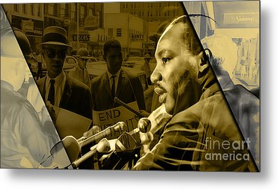 Martin Luther King Collection Metal Print by Marvin Blaine