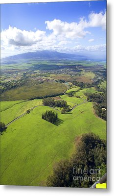 Maui Aerial Metal Print by Ron Dahlquist - Printscapes