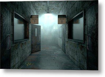 Mental Asylum Haunted Metal Print by Allan Swart