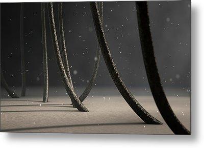 Microscopic Hair Fibers Metal Print