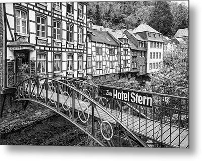 Monschau In Germany Metal Print by Jeremy Lavender Photography