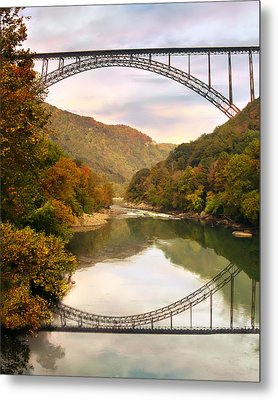 New River Gorge Bridge Metal Print by Mary Almond