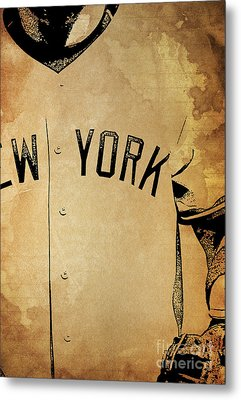 New York Yankees Baseball Team Vintage Card Metal Print by Pablo Franchi