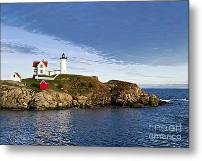 Nubble Lighthouse Metal Print by John Greim