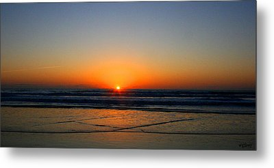 Ocean Sunrise Sunset Metal Print by W Gilroy