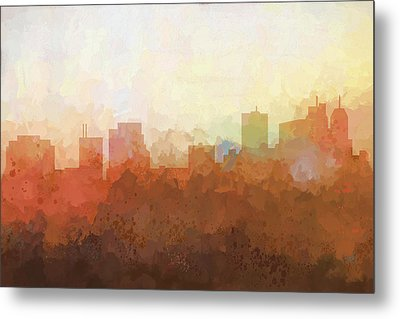 Metal Print featuring the digital art Parsippany New Jersey Skyline by Marlene Watson