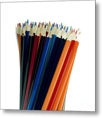 Pencils Metal Print by Bernard Jaubert