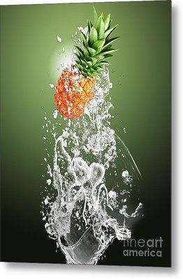 Pineapple Splash Metal Print by Marvin Blaine