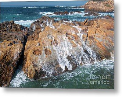 Point Lobos Concretions Metal Print