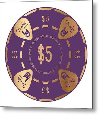 Poker Chip Metal Print by Francois Domain