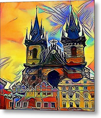 Prague Church - My Www Vikinek-art.com Metal Print