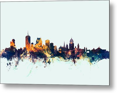 Quebec Canada Skyline Metal Print by Michael Tompsett
