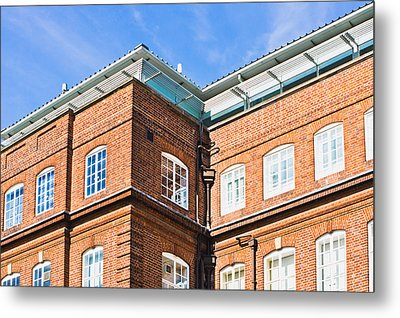 Red Brick Building  Metal Print by Tom Gowanlock