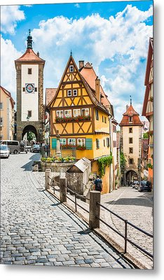 Rothenburg Ob Der Tauber Metal Print by JR Photography