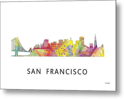 San Francisco California Skyline Metal Print