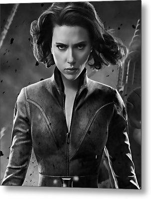 Scarlett Johansson Black Widow Collection Metal Print by Marvin Blaine