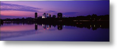 Silhouette Of Buildings Metal Print by Panoramic Images