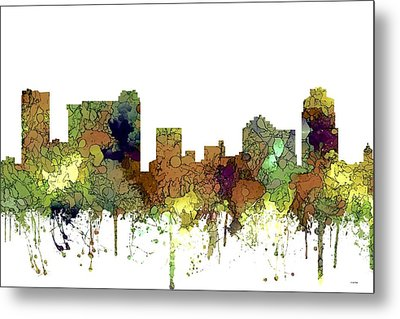 Metal Print featuring the digital art St Petersburg Florida Skyline by Marlene Watson
