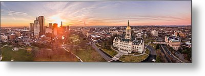 Sunrise In Hartford, Connecticut Metal Print by Petr Hejl