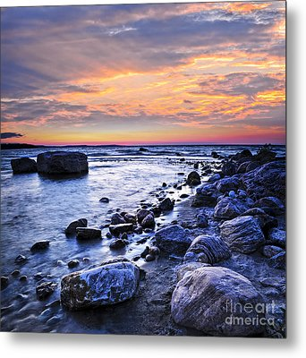 Sunset Over Water Metal Print