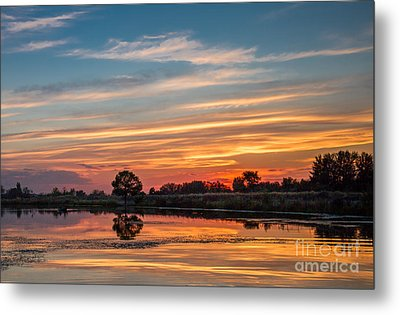 Sunset Reflections Metal Print by Robert Bales
