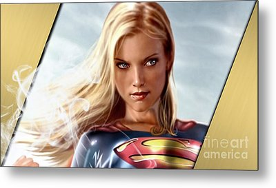Supergirl Collection Metal Print by Marvin Blaine
