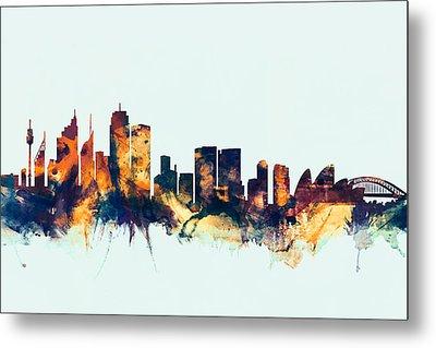 Sydney Australia Skyline Metal Print by Michael Tompsett