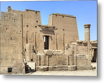 Temple Of Edfu - Egypt Metal Print by Joana Kruse