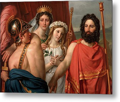 The Anger Of Achilles Metal Print by Jacques-Louis David